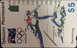 Paco \ AUSTRALIA \ AUS-M-050a \ Swimming (N91042-2-2) - 1992 Barcelona Olympics \ Usata - Australië