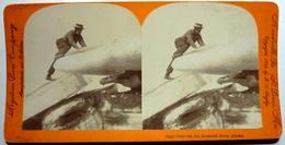 OVER THE ICE , KOZUKUK RIVER - ALASKA - Stereoscopic