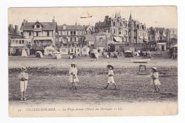 14 Villers Sur Mer N°39 La Plage Devant L'Hôtel Des Herbages Enfants Costumes Jeux De Sable En 1905 - Villers Sur Mer