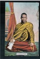 BURMA/ MYANMAR A Burmese Priest Ca 1910 OLD POSTCARD 2 Scans - Myanmar (Burma)