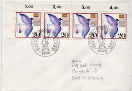 Postal History Cover: Germany Stamps On Cover - Columbiformes