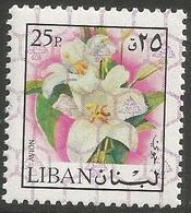 Lebanon - 1978 Lilies O/print 25pi  MNH **    Mi 1262  Sc C766 - Lebanon