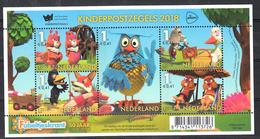 Nederland 2018 Nvph Nr  ???? , Mi Nr ??,kinderpostzegels Thema: 50 Jaar Fabeltjeskrant Met Uil, Owl, Bever, Ooievaar - Periodo 2013-... (Willem-Alexander)