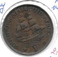 *south Africa  1 Penny 1934 Km 14.3  Vf+ - Afrique Du Sud