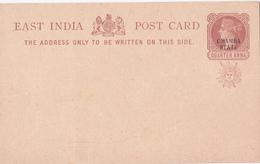 Entier Postal East India - Chamba State - Etat Neuf - Cartes Postales