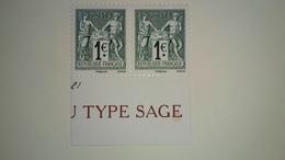2017 - 140 ème Anniversaire Du Type Sage - Paire 5094-5095 - France