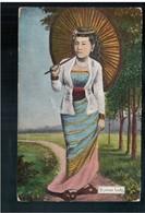 BURMA/ MYANMAR Burman Lady Ca 1910 OLD POSTCARD 2 Scans - Myanmar (Burma)