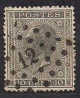 België Belgique 1865 OCB Nr 17 (o) Obliteré Cote 3 Euro - 1865-1866 Profil Gauche