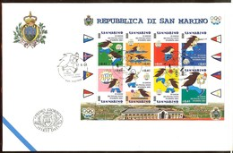 SAINT-MARIN FDC Des Timbres N°1749/1756 - FDC