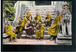 BURMA/ MYANMAR Burmese Buddist Priests Ca 1910 OLD POSTCARD 2 Scans - Myanmar (Burma)
