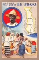 """¤¤  -  Illustrateur   -   Colonie Française  """" LE TOGO """"   -  Carte Du Pays   -  ¤¤ - Togo"""
