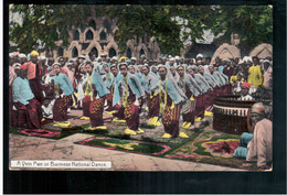 BURMA/ MYANMAR Burmese National Dance Ca 1910 OLD POSTCARD 2 Scans - Myanmar (Burma)