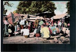 BURMA/ MYANMAR A Bazaar Ca 1910 OLD POSTCARD 2 Scans - Myanmar (Burma)