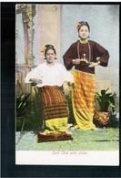 BURMA/ MYANMAR Sain Chet With Sister Ca 1910 OLD POSTCARD 2 Scans - Myanmar (Burma)