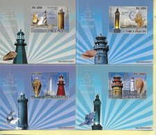 TIMBRES - STAMPS - SAO TOME ET PRINCIPE / SAN TOME Y PRINCIPE - 2008 - PHARES - TIMBRES NEUFS - MNH - Leuchttürme
