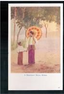 BURMA/ MYANMAR A Mandalay Belle Ca 1910 OLD POSTCARD 2 Scans - Myanmar (Burma)