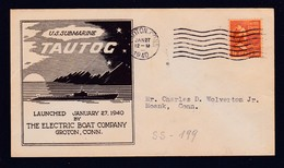"""US Navy, USS""""TAUTOG"""" (SS-199) Launched 1940, Look Scan, RARE !! 21.7-72 - Sous-marins"""