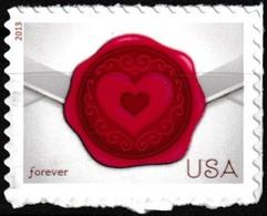 Timbre-poste Neuf** Autocollant à Validité Permanente - Sealed With Love - N° 4570 (Yvert) - États-Unis 2013 - Etats-Unis