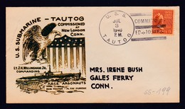 """US Navy, USS""""TAUTOG"""" (SS-199) COMMISSIONING 1940, Look Scan, RARE !! 21.7-71 - Sous-marins"""