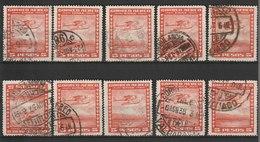 MiNr. 212 Chile / 1934/1952. Flugpost-Auslandsdienst: Landesmotive. - Chile