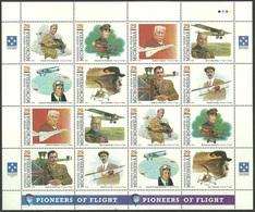 MICRONESIA 1993 AIRCRAFT PIONEERS TUPOLEV SIKORSKY CURTISS RAF MILITARY MNH - Micronesia