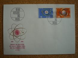 Suisse Enveloppe Affranchie Congrès Du Centenaire De L'Union Internationale Des Télécommunications Montreux 1965 - Marcophilie