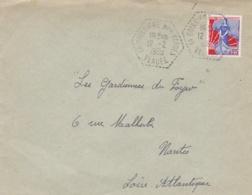 LA BOISSIERE DES LANDES Vendée Cachet Hexagonal Tireté Du 12 2 1960 Sur Lettre - Postmark Collection (Covers)