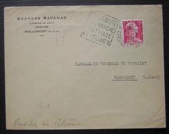 Mallemort (Bouches Du Rhône) 1956 Georges Ravanas Notaire, Avec Daguin ! - Marcophilie (Lettres)