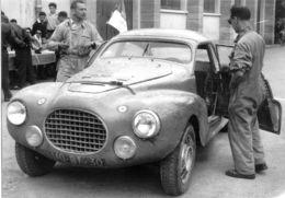 Liège-Rome-Liège Rally 1956  -  Peugeot 203 Speciale  -  Pilote: Paul Guiraud -  15x10cms PHOTO - Rallyes