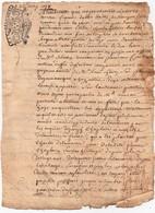 Acte Jugement Dubois Bailly Vouzon Manuscrit Litige Haye Gitton Duffié Cachet Généralité D'Orléans Dix Deni 1737 2 Pages - Manoscritti