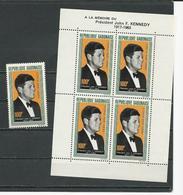GABON  Scott C27, C27a Yvert PA29, BF3 ** (1+bloc) Cote 12,25  $ 1964 - Gabon (1960-...)