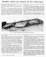 MODELE REDUIT De CHEMIN DE FER ELECTRIQUE De M. KUHN   1946 - Other Collections