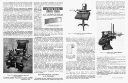 L'IMPRIMERIE Son MATERIEL Et Ses PROGRES  1946 - Technical