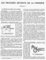 "LES PROGRES RECENTS De La VERRERIE "" Verres Speciaux "" 1946 ( 4 ) - Other"