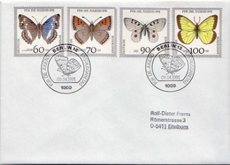 Postal History Cover: Germany Stamps On Cover - Butterflies