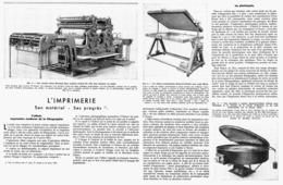 """L'IMPRIMERIE Son MATERIEL Et Ses PROGRES """" L'offset Expression Moderne De La Lithographie """" 1947 (3 ) - Technical"""