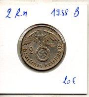 Allemagne. Troisieme Reich. 2 Reichsmark 1938 B - 2 Reichsmark