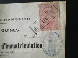 EXTRAIT DU REGISTRE D IMMATRICULATION D UN BELGE QUI S INSTALLE À GUINES PAS -  DE -  CALAIS  FRANCE TIMBRE FISCAL 1921 - Documents Historiques