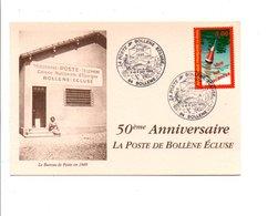 OBLITERATION 50 ANS DE LA POSTE BOLLENE ECLUSE  VAUCLUSE 1999 - Cachets Commémoratifs
