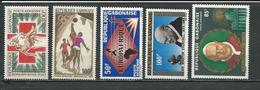 GABON  Scott C34, C35, C36, C38, C40 Yvert PA36, PA37, PA38, PA40, PA42 ** (5) Cote 11,25  $ 1965 - Gabon (1960-...)