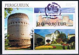 TIMBRE PASSION, ATM, 0.80€, Carte MAXIMUM, FDC,  26/10/2018, Périgueux, La Tour De Vésone, La Poste, Timbre Passion , - 2010-....