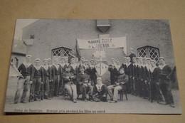 Navire école L'Avenir,envoi à Gand,Gent,ancienne Photo Carte Postal,goupe,militaires,originale - War 1914-18