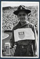 """Chromo De L'album """" Olympia 1936 """" - Scout Américain Collectant Des Fonds Pendant Les JO De 1936. - Scoutisme"""