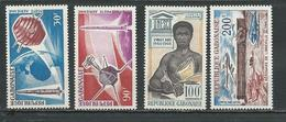 GABON  Scott C43-C44, C48, C49 Yvert PA45-PA46, PA50, PA51 ** (4) Cote 10,20  $ 1966 - Gabon (1960-...)