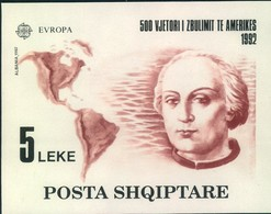 1992,ALBANIA; CEPT; Michel Blockt 97, Mnh - COLUMBUS, Colon, America - Christoph Kolumbus