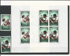 GABON  Scott C41-C41, C41a-C42a Yvert PA43-PA44, BF4-BF5 ** (2+2blocs) Cote 27,00  $ 1966 - Gabon (1960-...)
