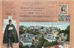 Luxembourg - Fantaisie - Facteur - La Ville Basse Du Grund Et Ville Haute - Luxembourg - Ville