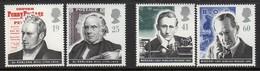 Grande-Bretagne - 1995 - Yvert N° 1833 à 1836 ** - Rowland Hill & Guglielmo Marconi - Neufs