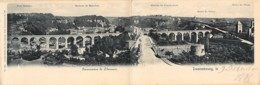 Luxembourg -  Carte Double - Panorama De Clausen - N° 1366 Ch. Bernhoeft Série Lux N° 103 - Lussemburgo - Città