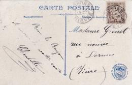 Taxe Banderole 10c  Sur Carte Postale Du Trocadéro De 1917 - Lettres Taxées